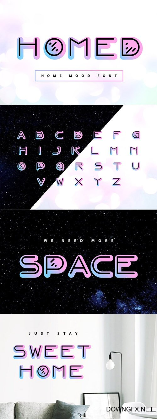 Homed| color home mood font