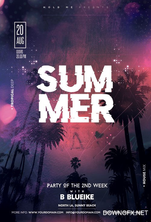 Summer Club Party - Premium flyer psd template