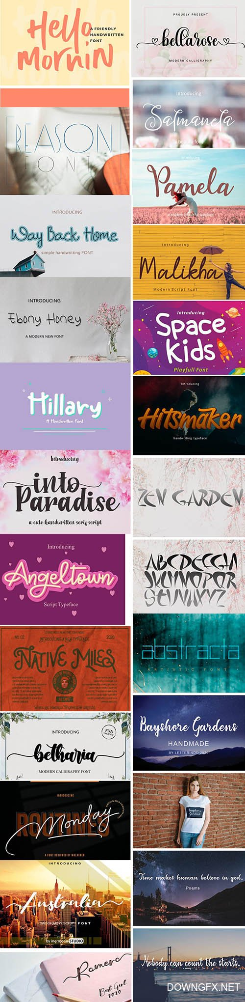 20 Amazing Modern Fonts in 1 Pack!