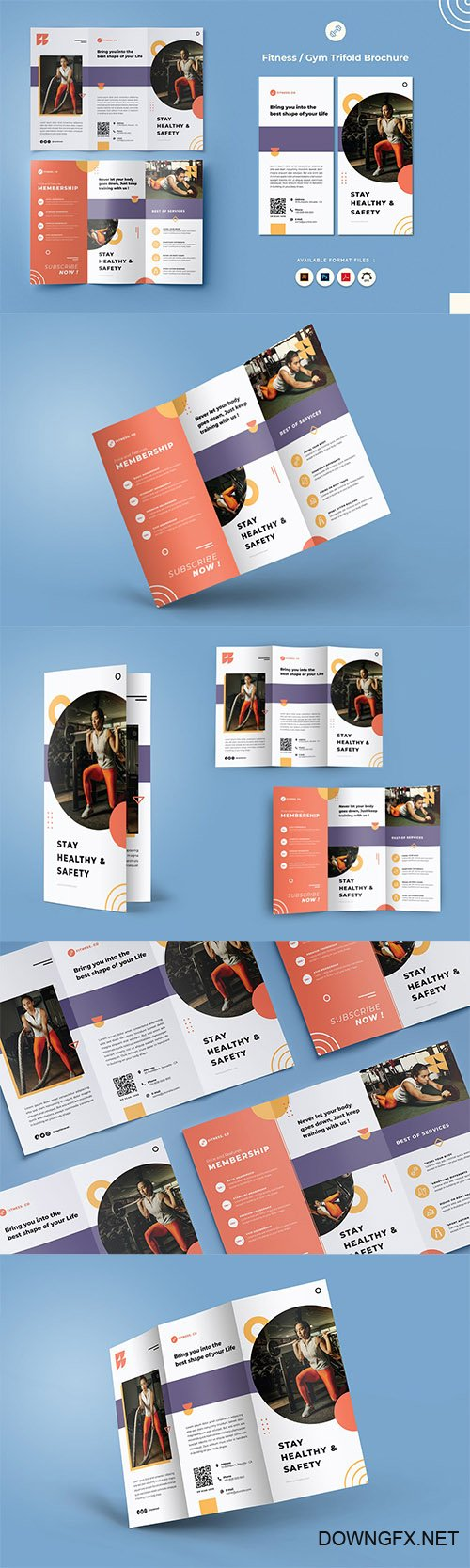 Fitness & Gym Trifold Brochure