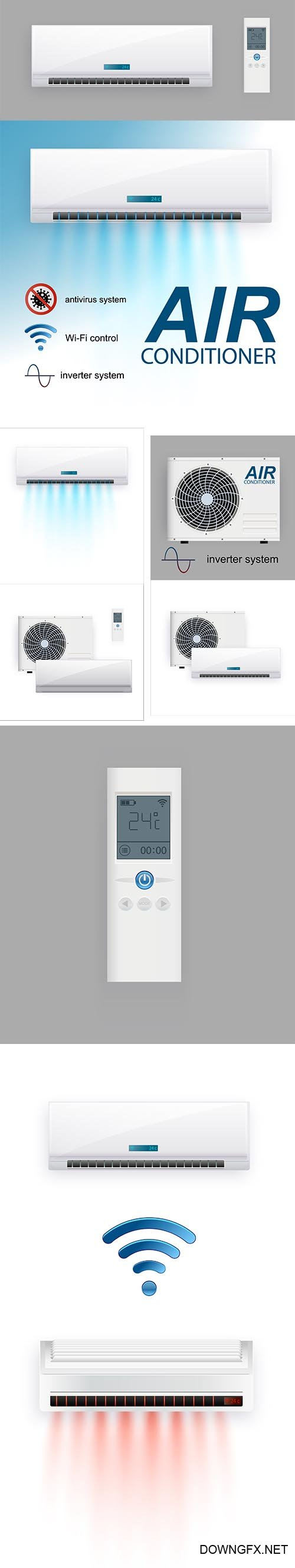 Split System Air Conditioner Inverter Realistic Conditioning