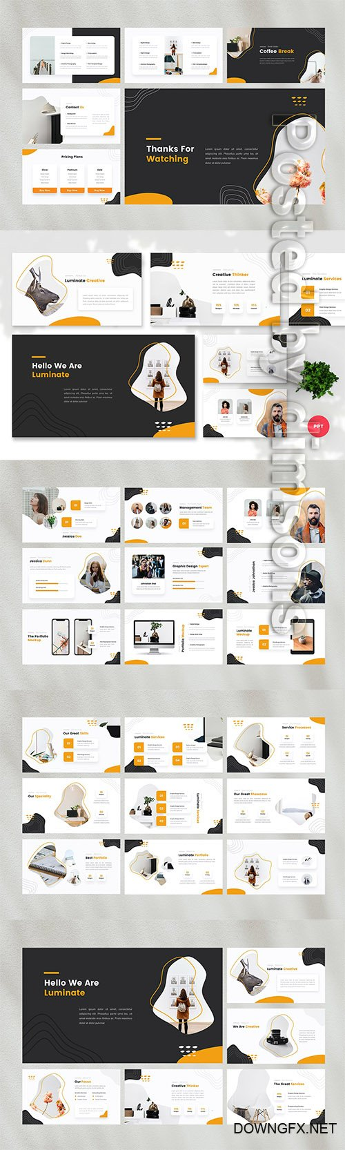 Luminate - Creative PowerPoint, Keynote, Google Slides Templates