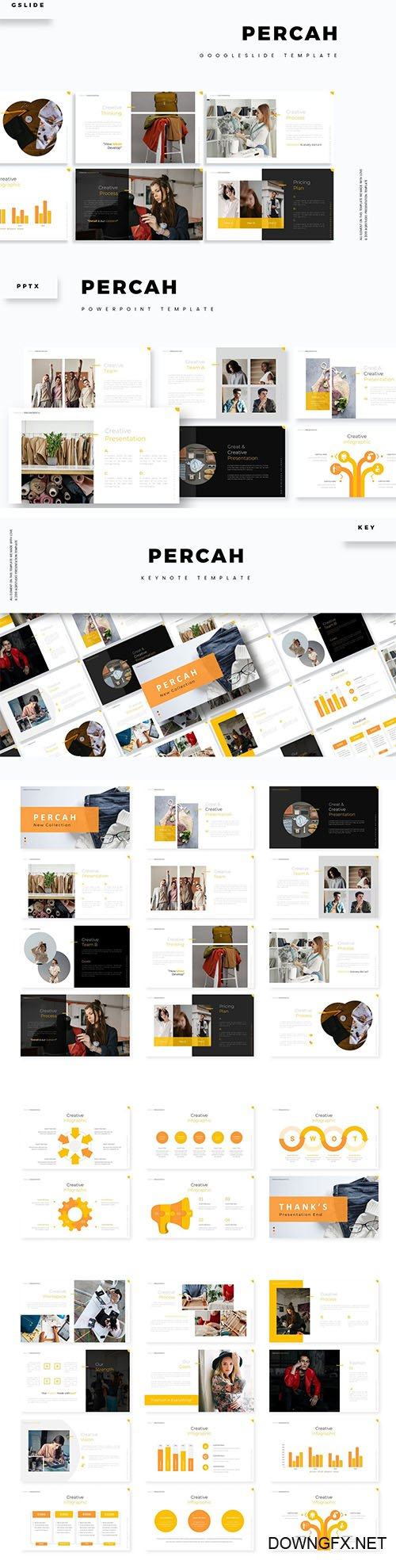 Percah Powerpoint, Keynote and Google Slide Template