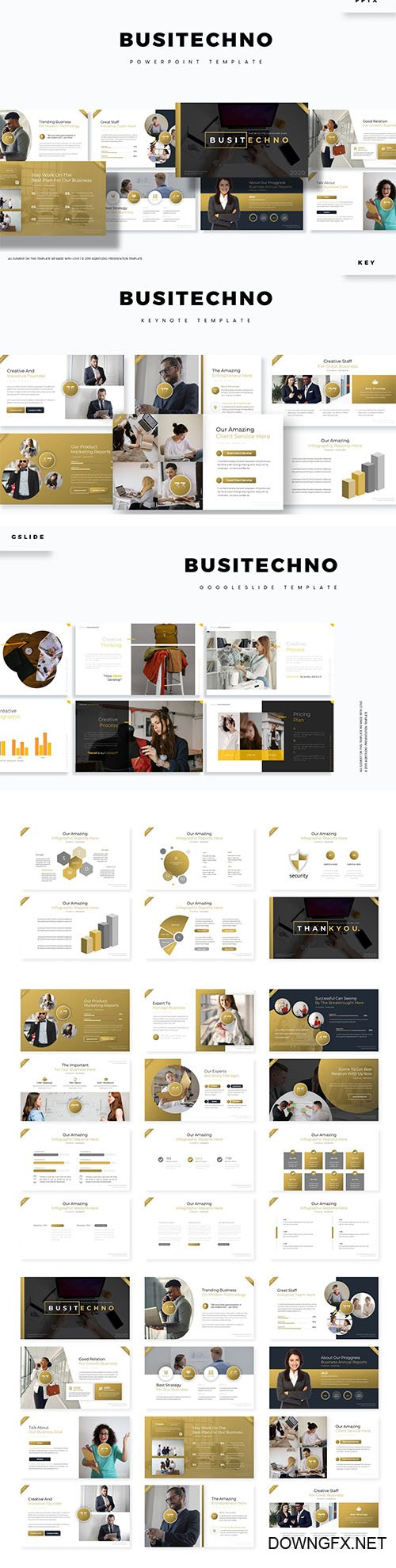 Busitechno Powerpoint, Keynote and Google Slide Template