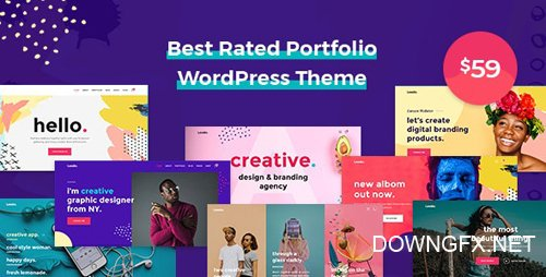 ThemeForest - Leedo v1.3.8 - Modern, Colorful & Creative Portfolio WordPress Theme - 22697428