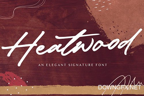 Heatwood YH - Luxury Signature Font