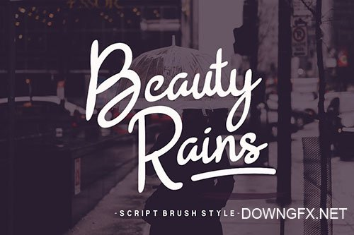 Beauty Rains Hand Drawn Script Fonts