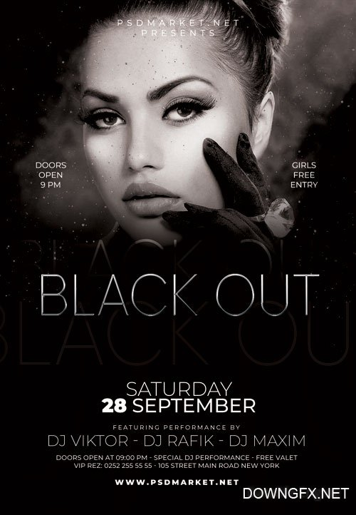 Black out - Premium flyer psd template