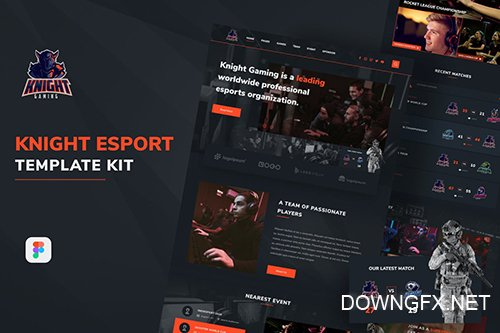 Knight eSport Web UI Kit