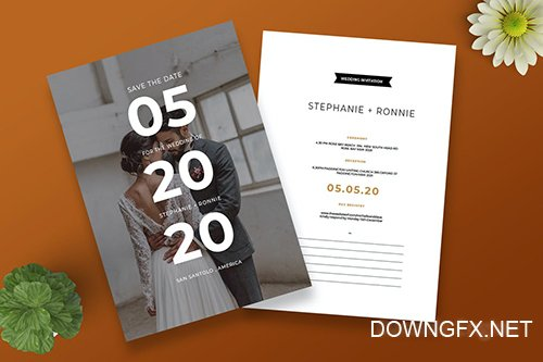 Cd SImple Save The Date