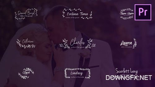 Wedding Titles and Lower Thirds 24656288
