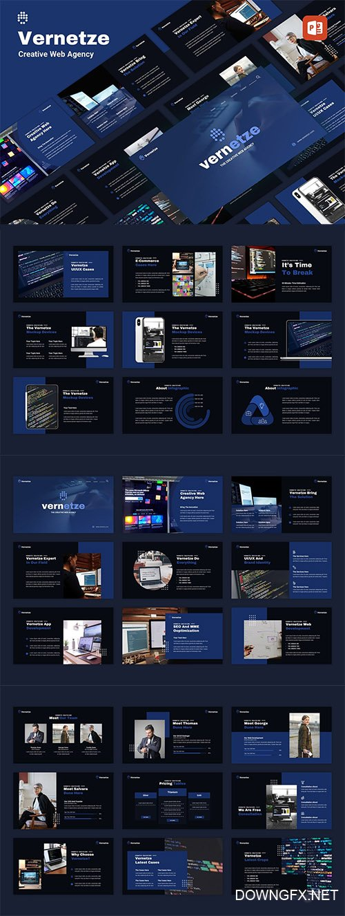 Vernetze - Creative Web Agency PowerPoint Template