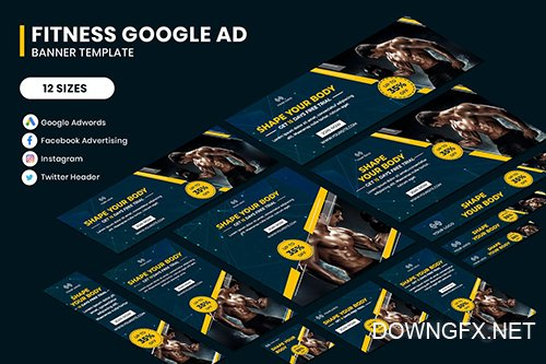 Fitness Google Adwords Banner Template