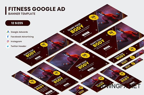Fitness Google AD Template