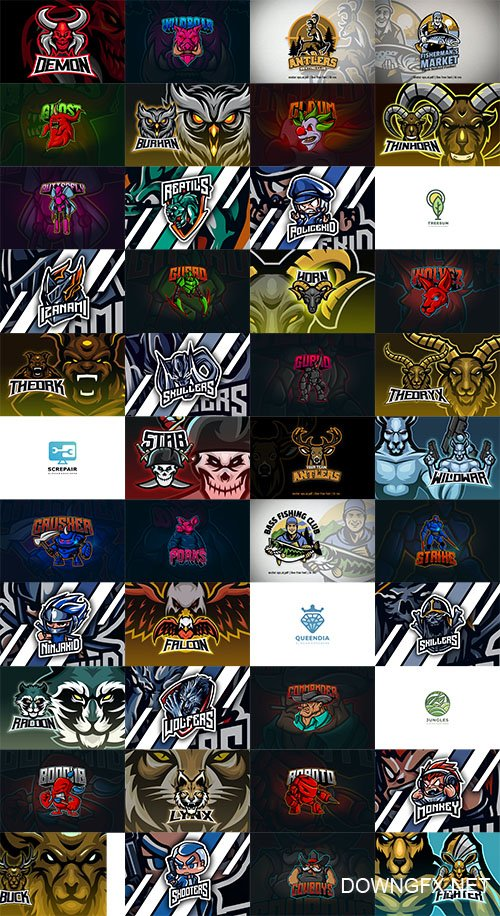 46 Mascot and Esport Logos Pack