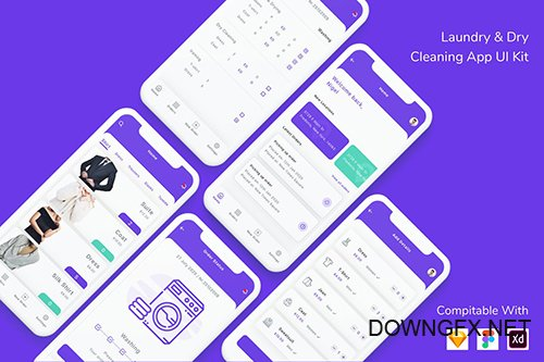 Laundry & Dry Cleaning App UI Kit