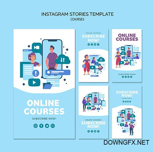 Online Courses Instagram Stories Collection