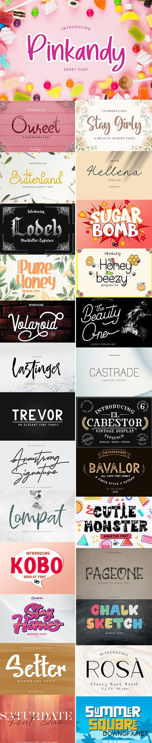 SUPER FONTS PACK AUGUST 2020 VOL 3