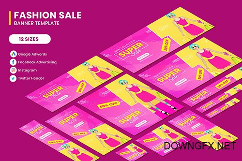 Fashion Sale Google Adwords Banner Template