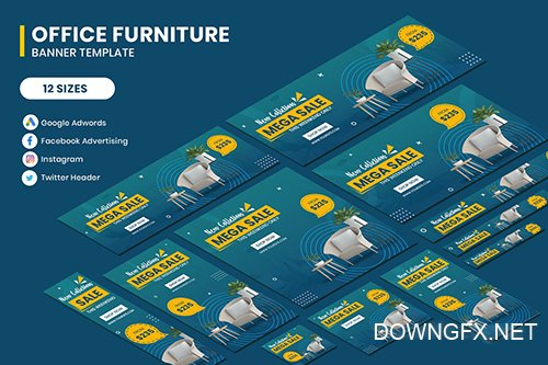 Office Furniture Google Adwords Banner Template