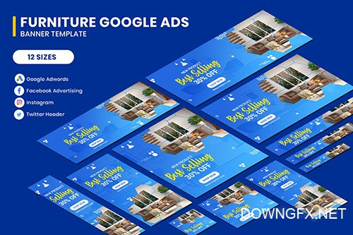 Furniture Google Adwords Banner Template