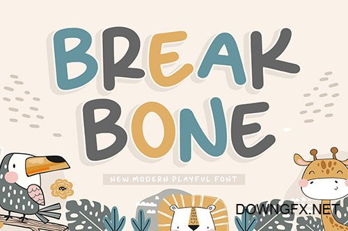 Breakbone YH - Kids Display Font