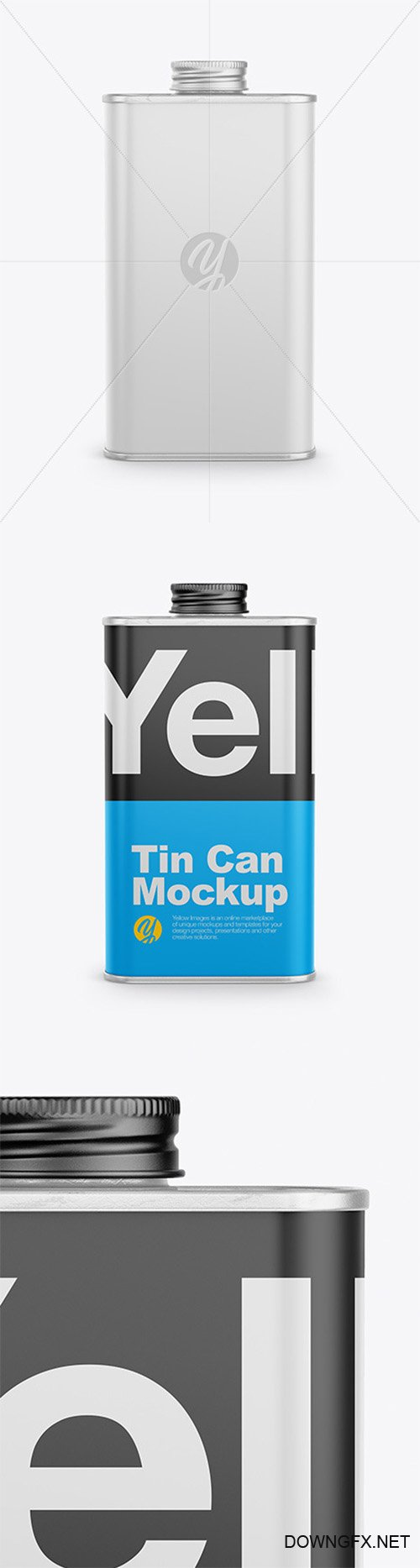 Glossy Tin Can Mockup 64891