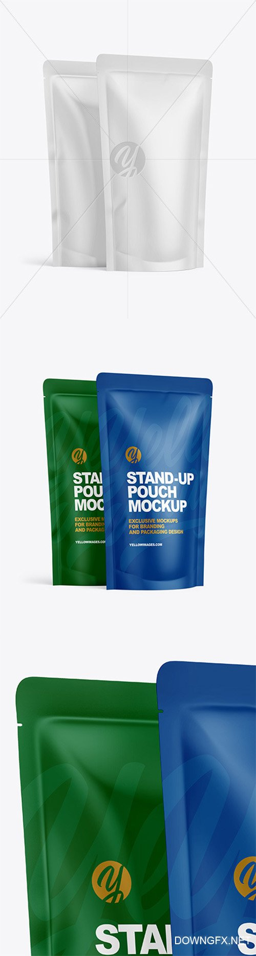 Two Matte Stand-up Pouches Mockup 64299