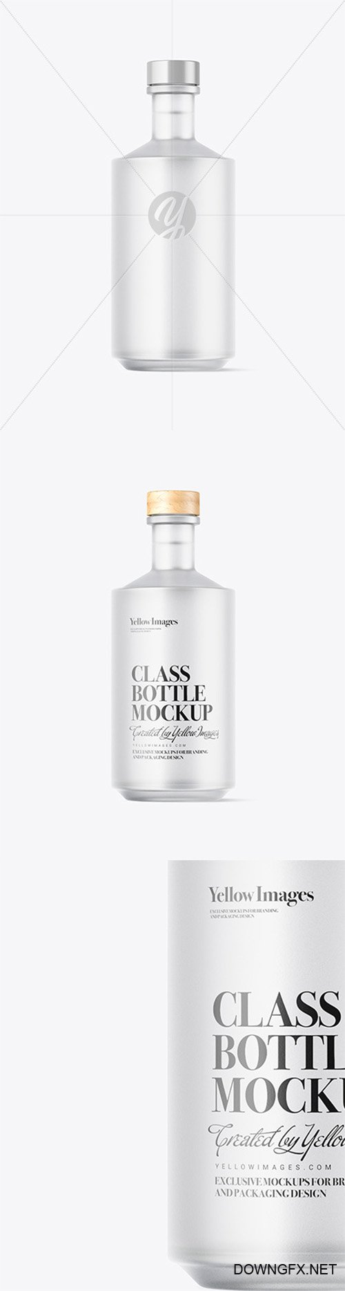 Frosted Vodka Bottle Mockup 64789