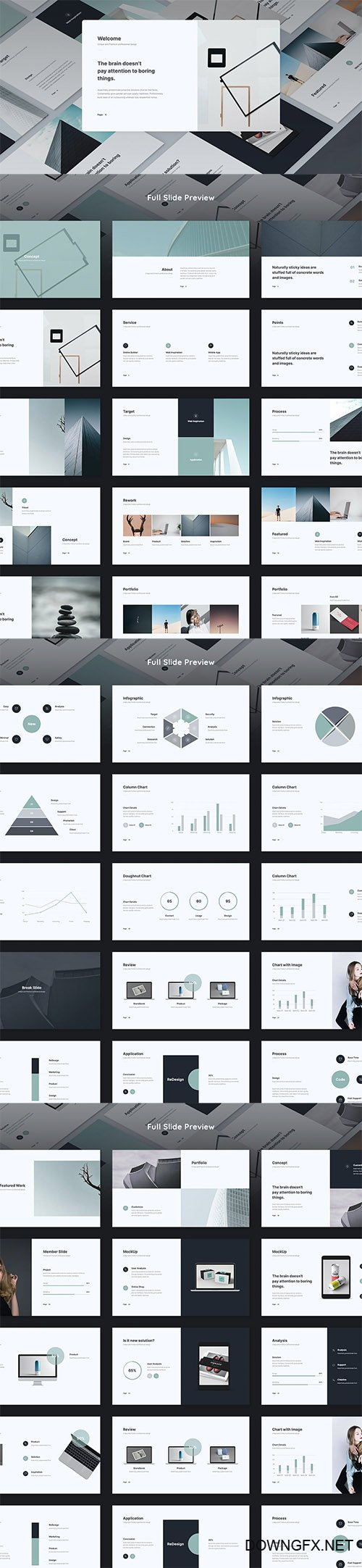 IVE - Minimal Presentation Template (PPTX)