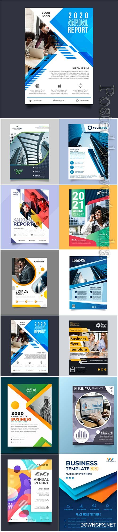 Business flyer concept in vector
