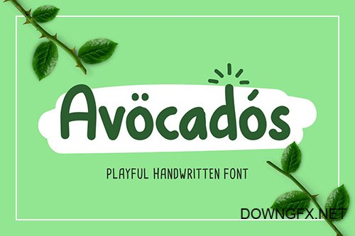 Avocado - Cute Font
