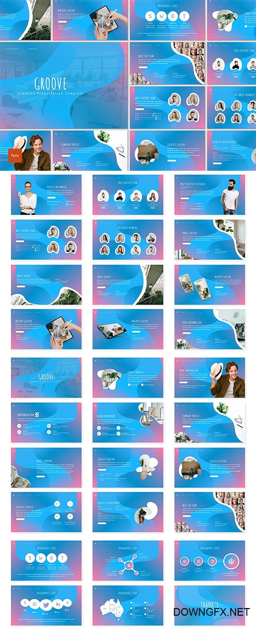 Groove - Creative Powerpoint Template