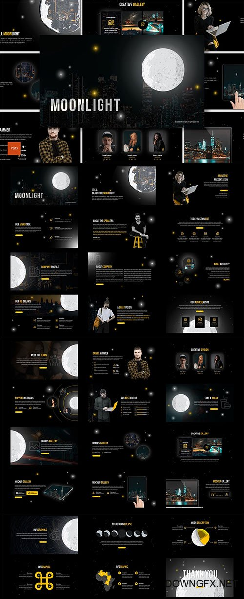Moonlight - Creative PowerPoint, Keynote and Google Slides Template