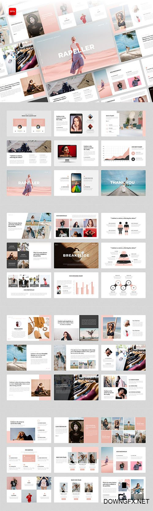 Rapeller-Fashion PowerPoint, Keynote and Google Slides Template