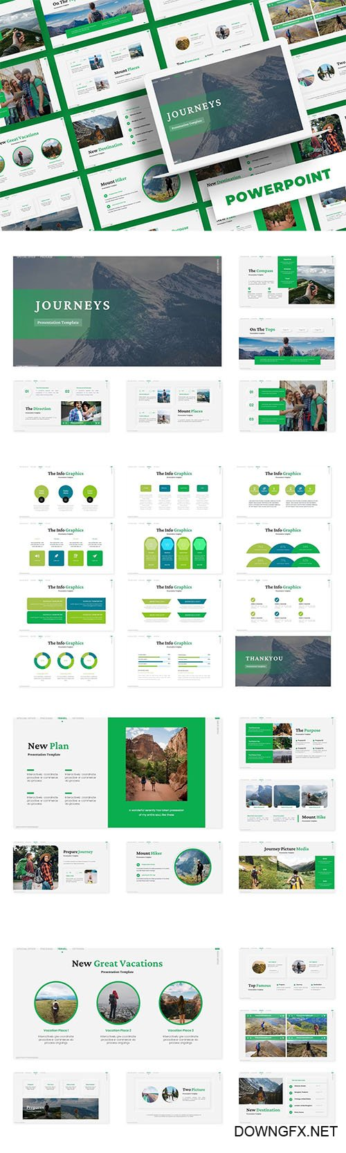 Journeys -  PowerPoint, Keynote and Google Slides Template