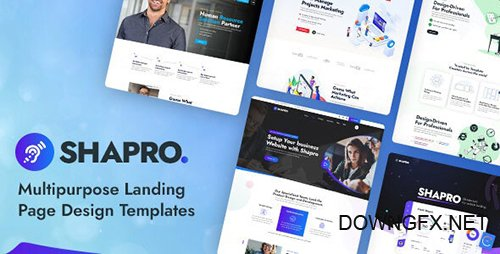 Shapro - Multipurpose Landing Page Design PSD Templates 28163500