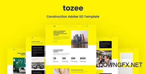 Tozee - Construction Adobe XD Template 27083230