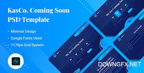 KasCo - Coming Soon PSD Template 26843497