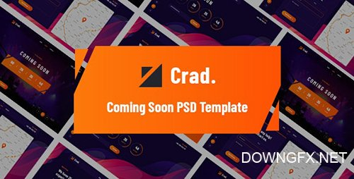 Crad - Coming Soon PSD Template 26681565