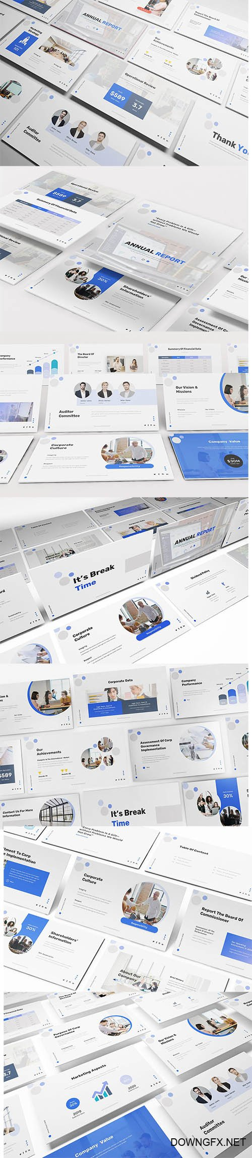 Annual Report PowerPoint, Keynote and Google Slides Template