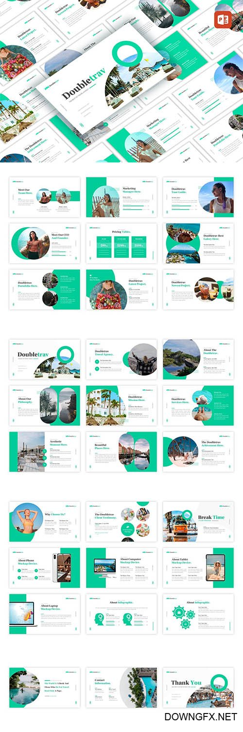 Doubletrav - Travel Agency PowerPoint, Keynote and Google Slides Template