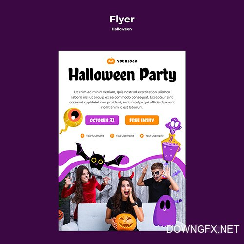 Halloween Party Flyer Template Style