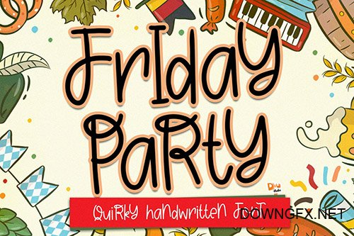 Friday Party - Quirky Handwritten