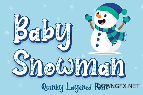 Baby Snowman - Display Font