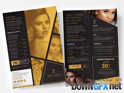 Black and Gold Poster Layout 333030951 PSDT