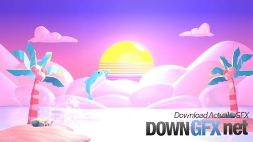 Videohive - Pink Paradise and Dolphin 28662655