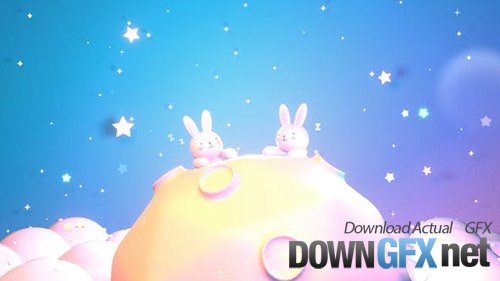 Videohive - Bunny On The Moon 28614065