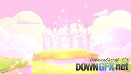 Videohive - Cartoon Pink Castle 28780422