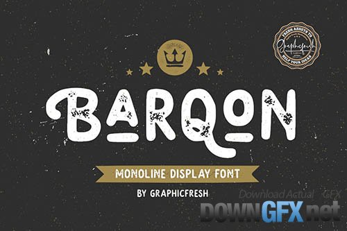 Barqon | Display Monoline Font